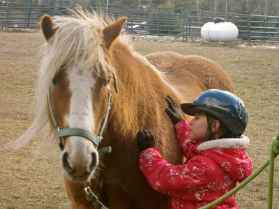 Riding Hope (okay his name was Samson)