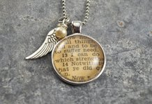 Krafty Kash vintage dictionary necklace