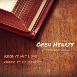 Open Hearts: The Only Thing You Need Today {Giveaway Winners}