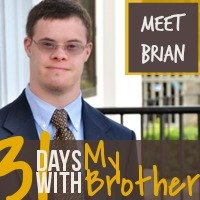 Katie M. Reid's brother Brian with Down Syndrome 31 Days with My Brother series on katiemreid.com