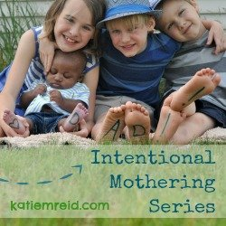 Intentional Mothering Series button by Katie M. Reid