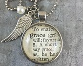 Vintage dictionary Grace necklace by Krafty Kash