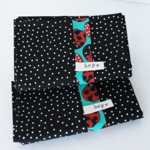 Ladybug pillows cases by Adopting Nations for Katie M Reid