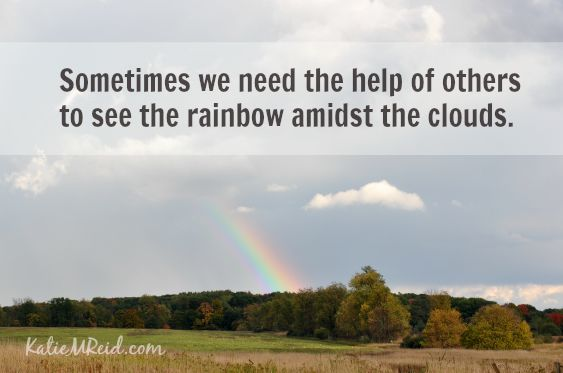 Help to see the rainbow by Katie M Reid