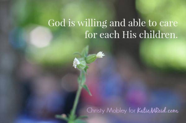 God cares for His children image by Katie M Reid