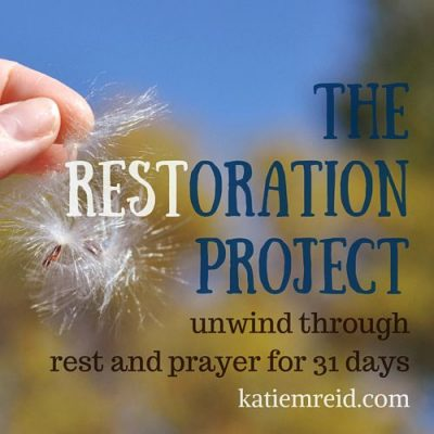 Restoration Project: Resting in Preparation