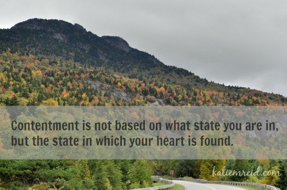 The state of contentment by Katie M. Reid