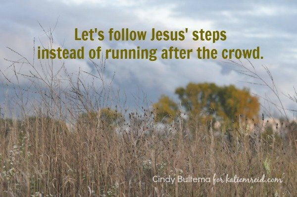Follow Jesus' steps don't run after the crowd