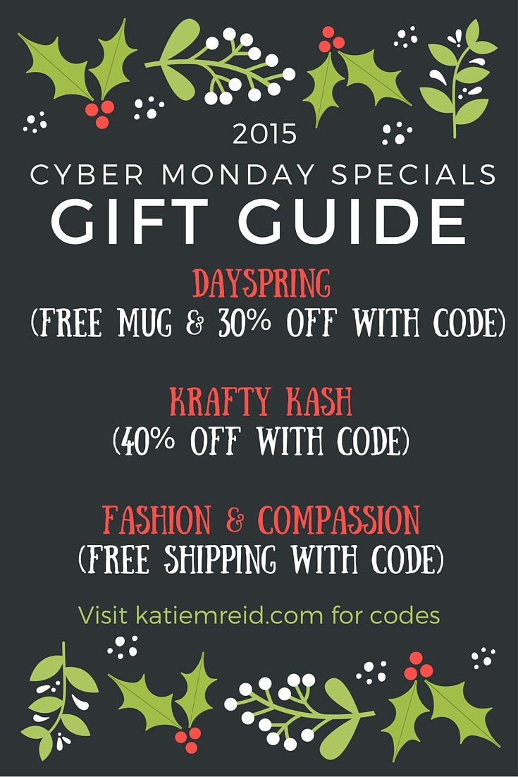 Cyber Monday Specials: Gift Guide 2015