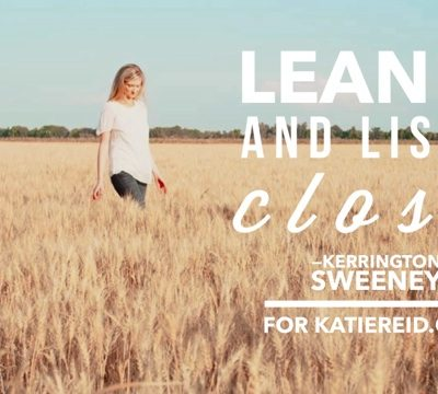 Listen Close, Listen Well: Lean In My Daughters (Giveaway)