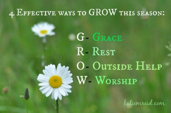 Effective ways to G.R.O.W.