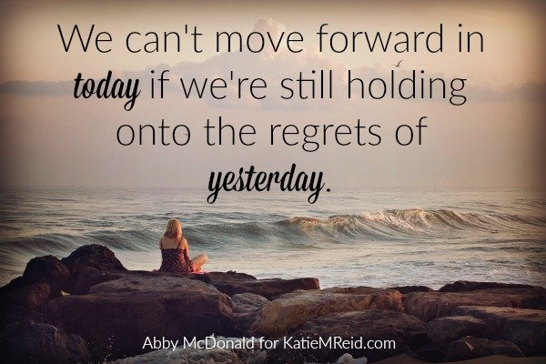 Let go of regrets image by Abby McDonald