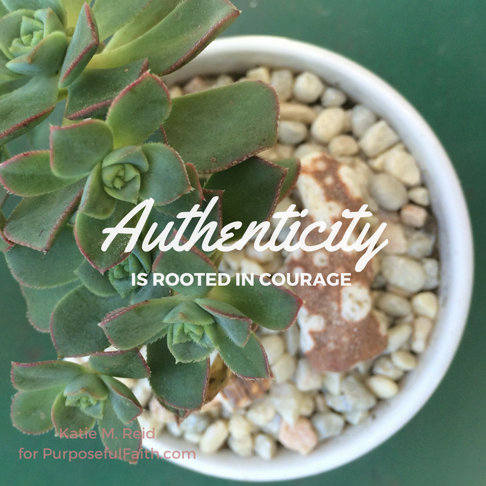 Authenticity is rooted in courage image by Katie M. Reid Photography for Kelly Balarie's Purposeful Faith