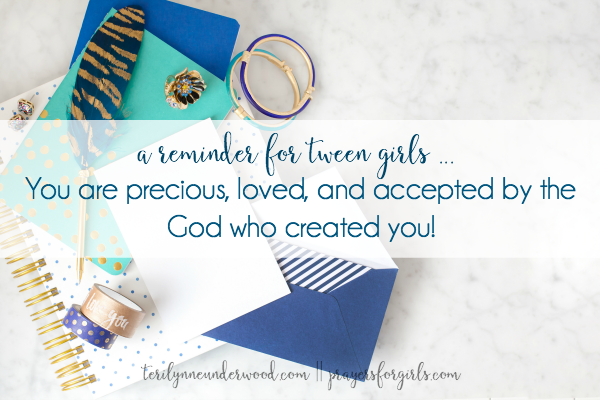 Reminder for tween girls by Teri Lynne Underwood