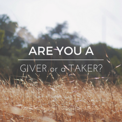 Thanksgiving: Are you a Giver or a Taker? (Giveaway)