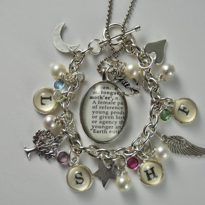 Vintage Dictionary Mother Necklace by kraftykash.net