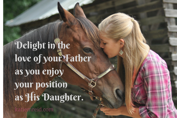 Delight in the love of your Father as you enjoy your position as His daughter by Katie M. Reid Photography