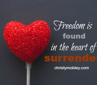 Freedom found in surrender series by Christy Mobley