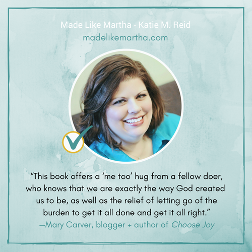 Mary Carver's endorsement of Made Like Martha by Katie M. Reid