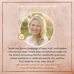 Jen Schmidt Endorsement for Made Like Martha book