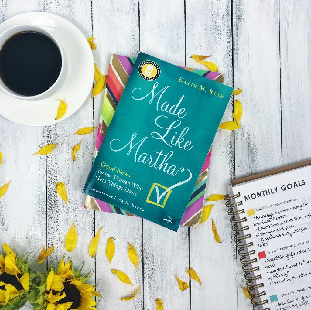 Made Like Martha by Katie M. Reid and book flay lay by Sarah Koontz
