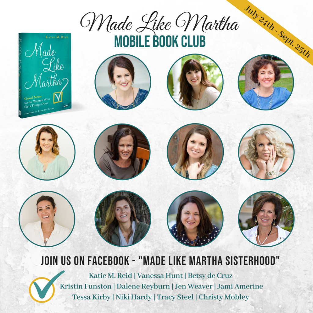 Made Like Martha mobile book club hosted by Katie M. Reid