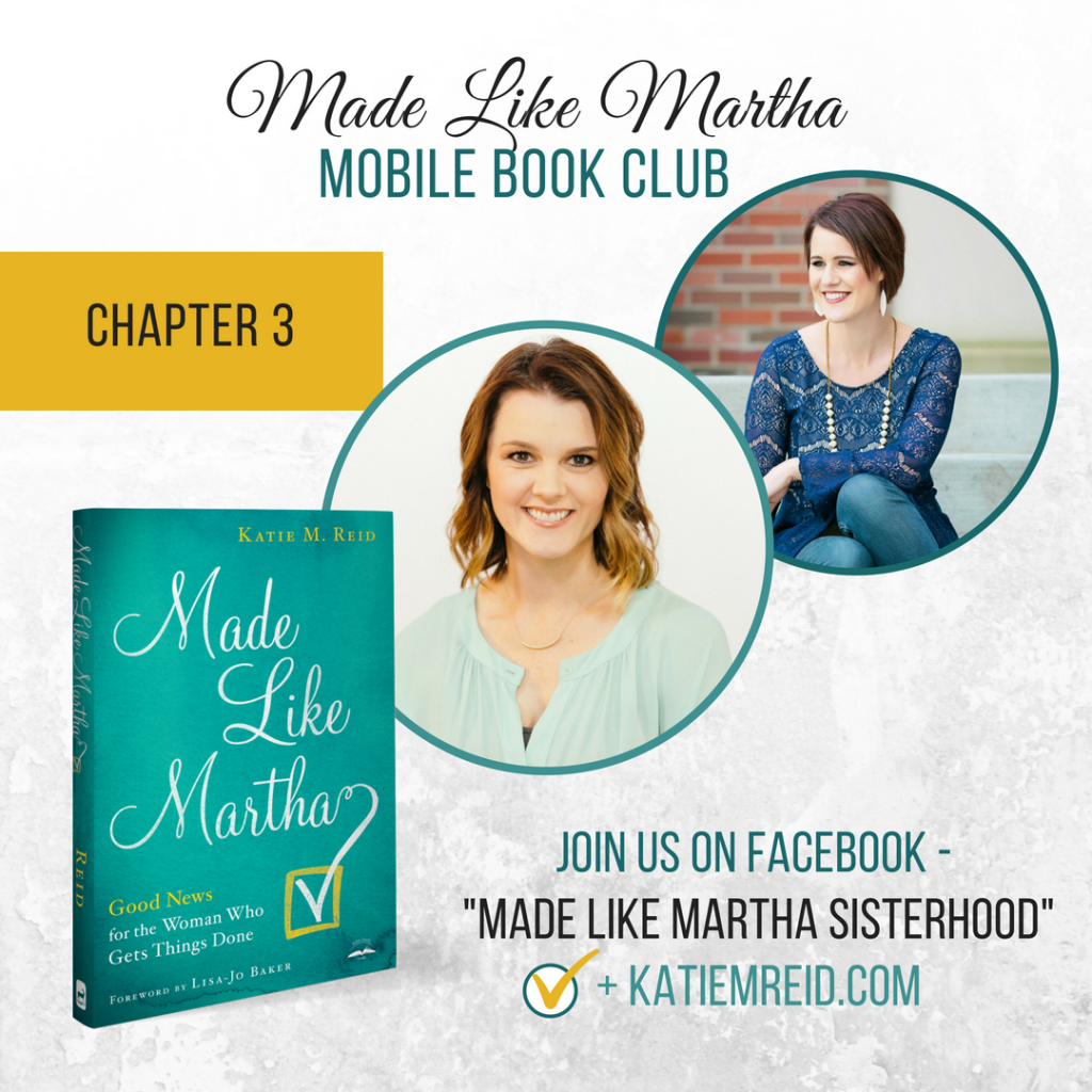 Made Like Martha mobile book club for Chapter 3 with Katie M. Reid and Kristin Funston