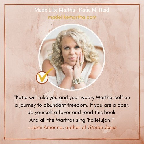 Jami Amerine's endorsement for Made Like Martha by Katie Reid