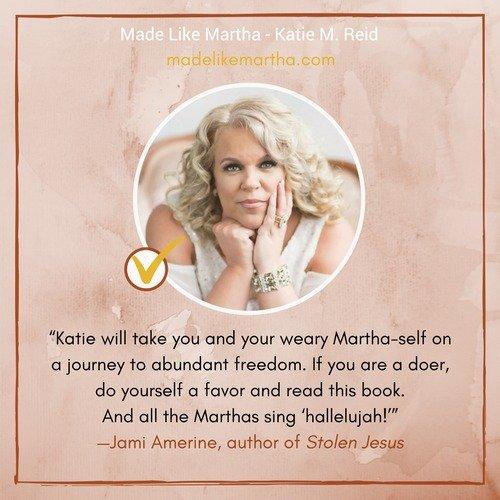 Jami Amerine's endorsement for Made Like Martha by Katie Reid