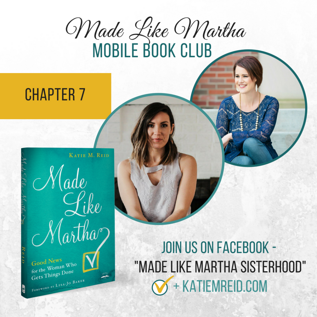 Made Like Martha mobile book club with Katie Reid and Tessa Kirby on Chapter 7