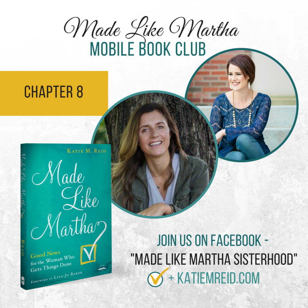 Made Like Martha mobile book club for Chapter 8 with Niki Hardy and Katie Reid.