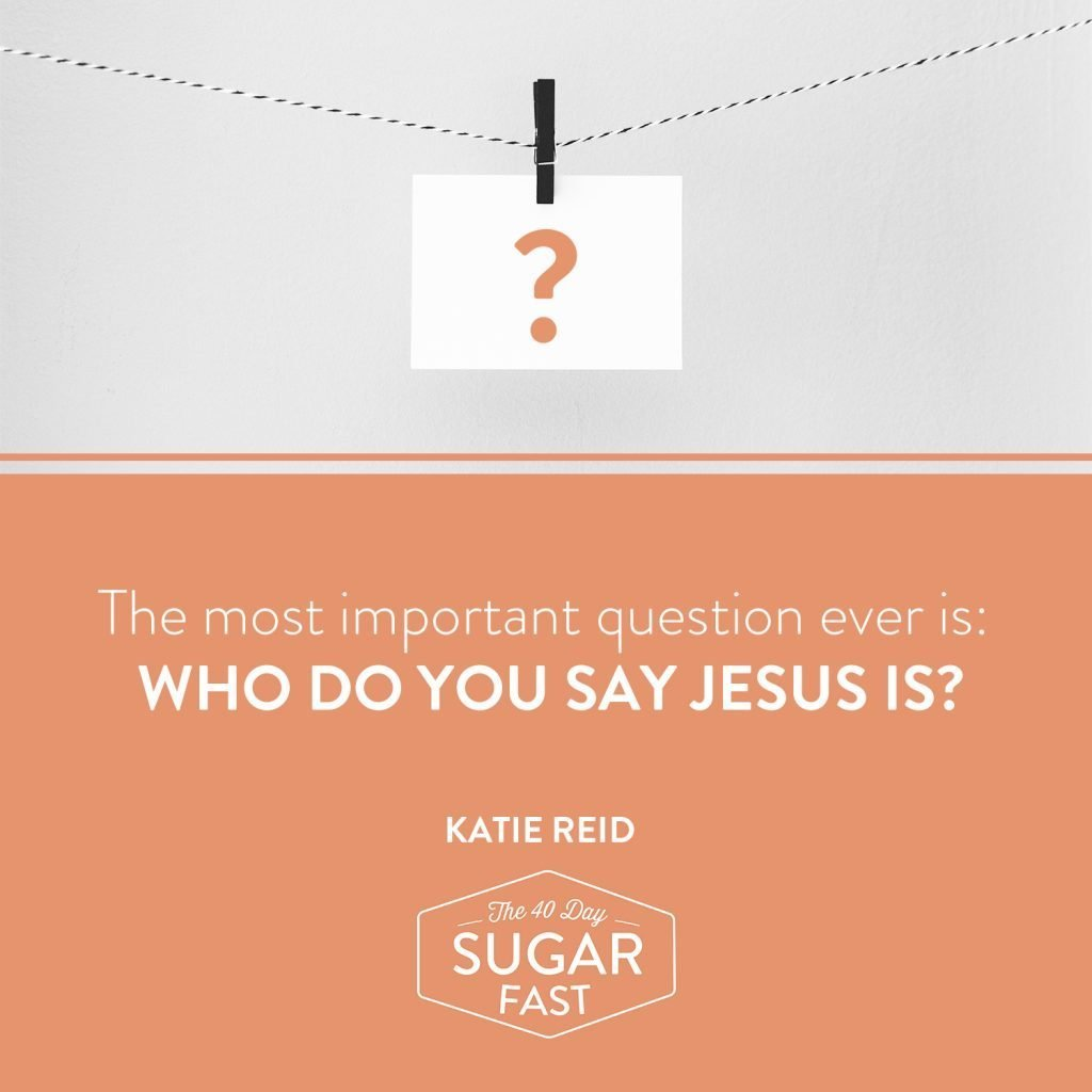 who do you say Jesus is by Katie M. Reid for Wendy Speake's 40 Day Sugar Fast Matthew 16