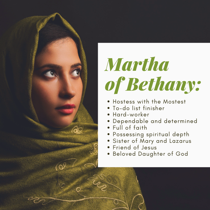 Martha of Bethany was a friend of Jesus and sister of Mary and Lazarus