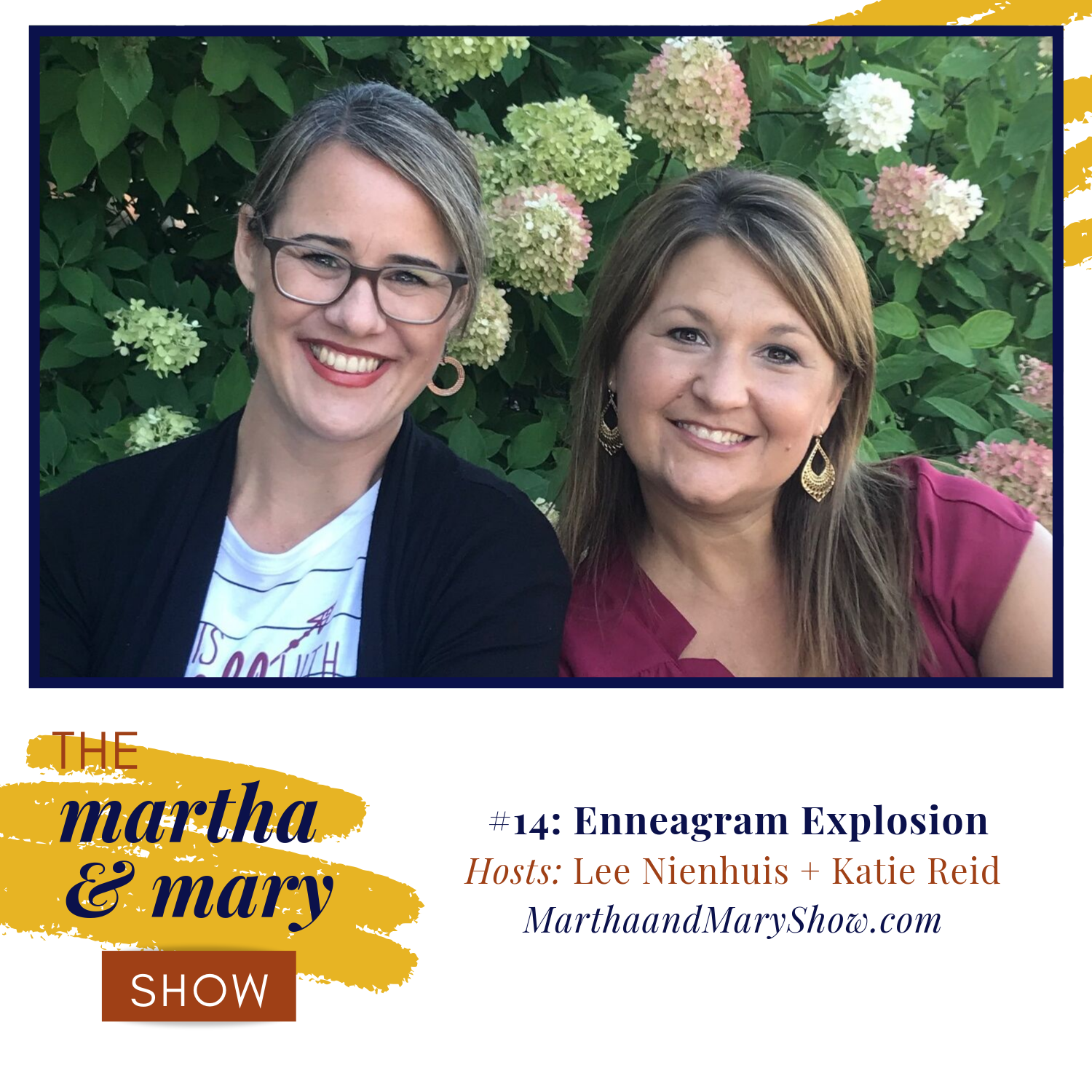 Enneagram Explosion Episode 14 of Martha Mary Show with Katie Reid and Lee Nienhuis