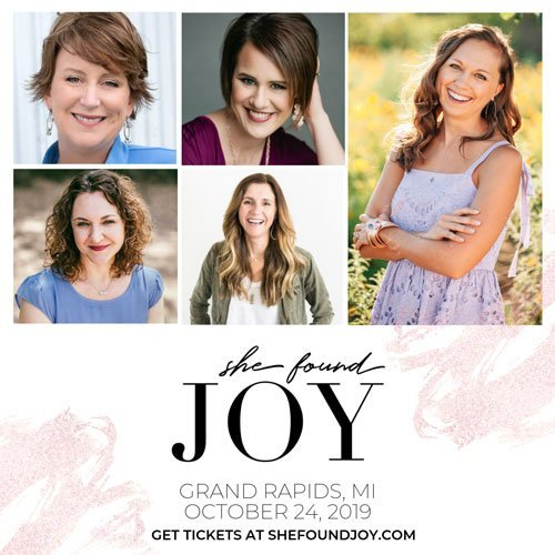 She Found Joy in Grand Rapids MI 2019 Baker Book House Tracy Steel Shannon Popkin Katie Reid Niki Hardy Lauren Gaskill
