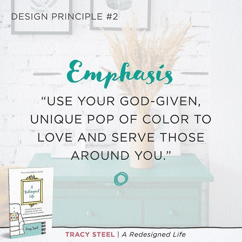 A Redesigned Life book by Tracy Steel Emphasis design principle
