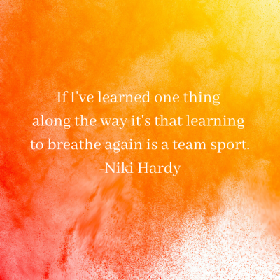 Breathing again team sport Niki Hardy book
