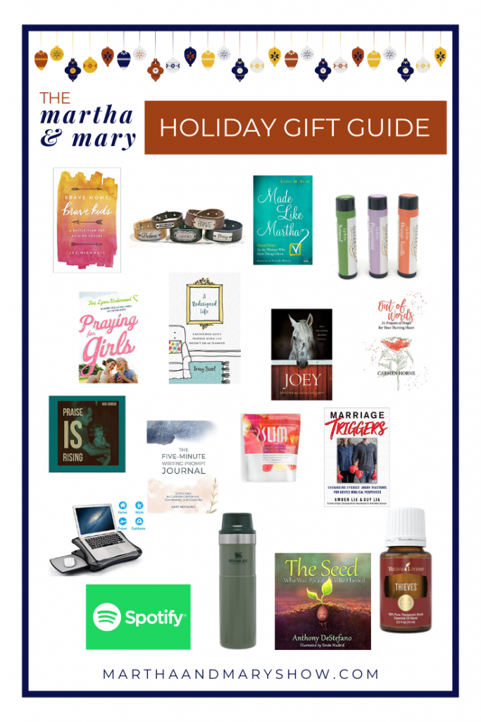 Martha Mary Holiday Gift Guide Shopping Simple List