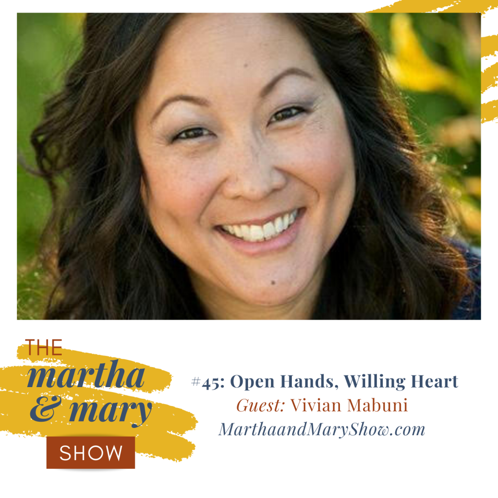 Vivian Mabuni on Martha Mary Show Open Hands Willing Heart
