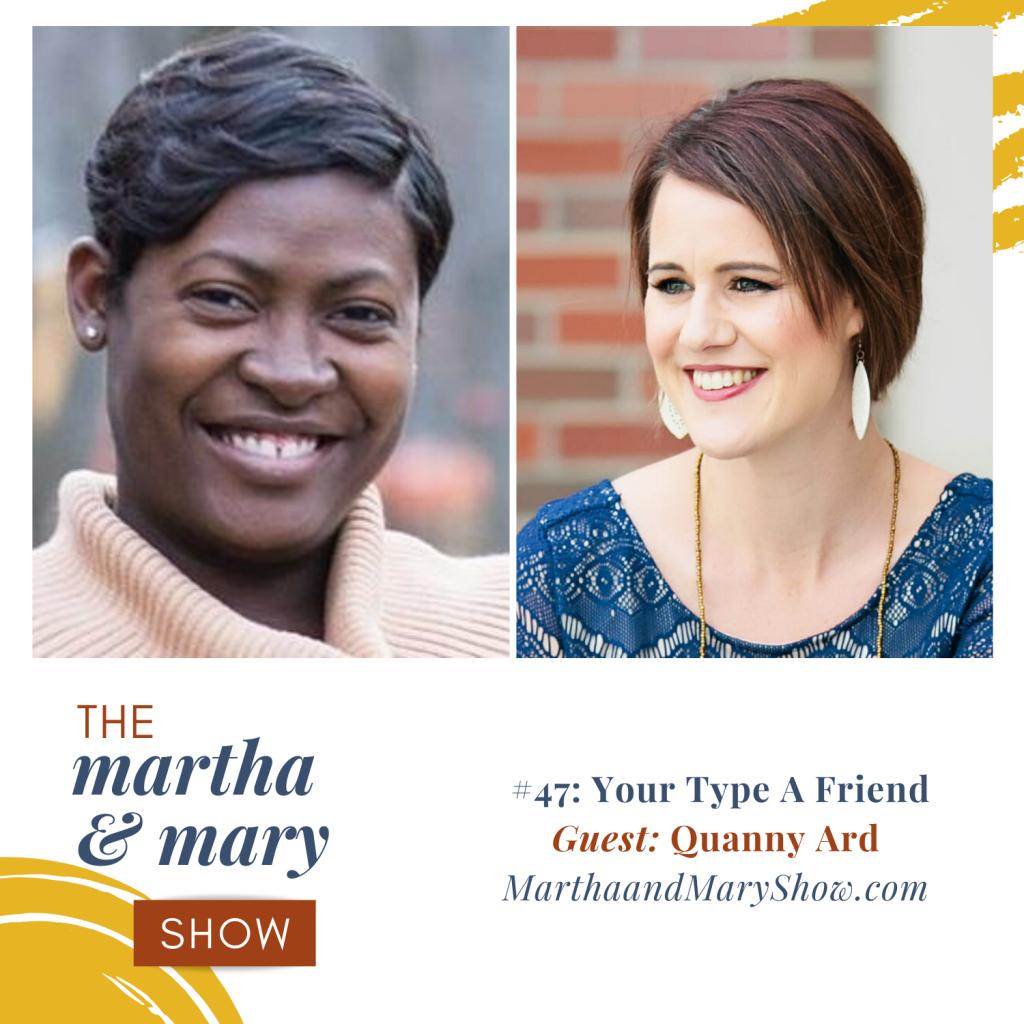 Katie Reid Martha Mary Show podcast Quanny Ard
