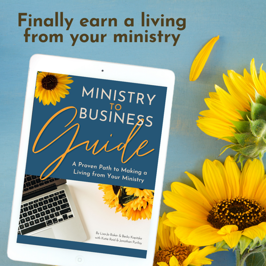 Make an income from your ministry Ministry to Business Guide