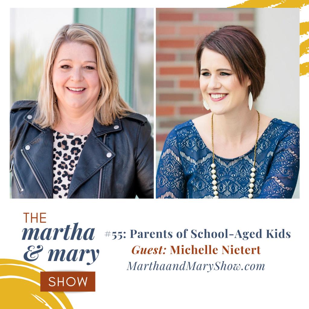 Back to School Encouragement Moms guest Michelle Nietert Martha Mary Show Katie Reid host
