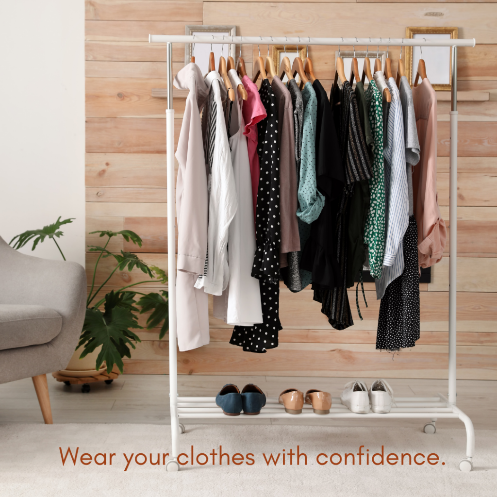 Wear clothes confidence Shari Braendel