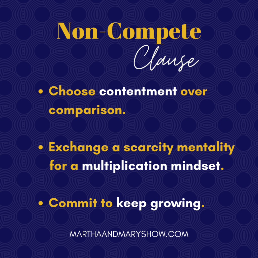 Non compete clause martha mary show podcast
