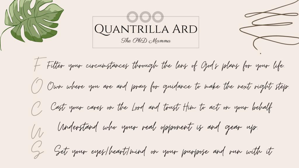 FOCUS acronym by Quantrilla Ard