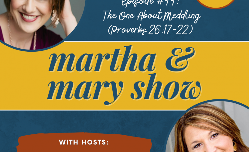 Meddling Martha Mary Show Proverbs Katie Reid Lee Nienhuis
